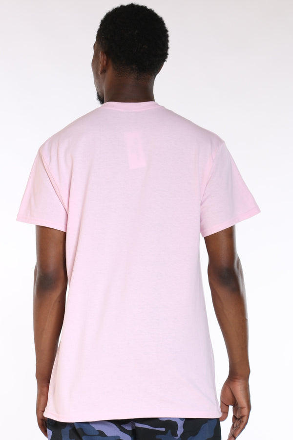 Men's Trap House Life Colorful Tee - Pink