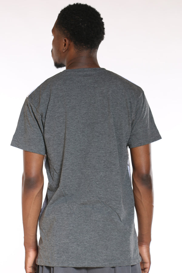 Men's Palm Trees Ombre Tee - Charcoal White