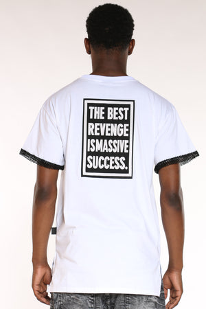 Men's Best Revenge Is Massive Success Tee - White