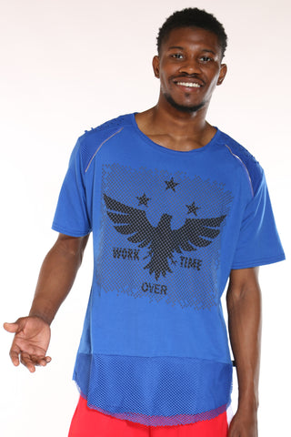 Men's Eagle Tee - Blue-VIM.COM