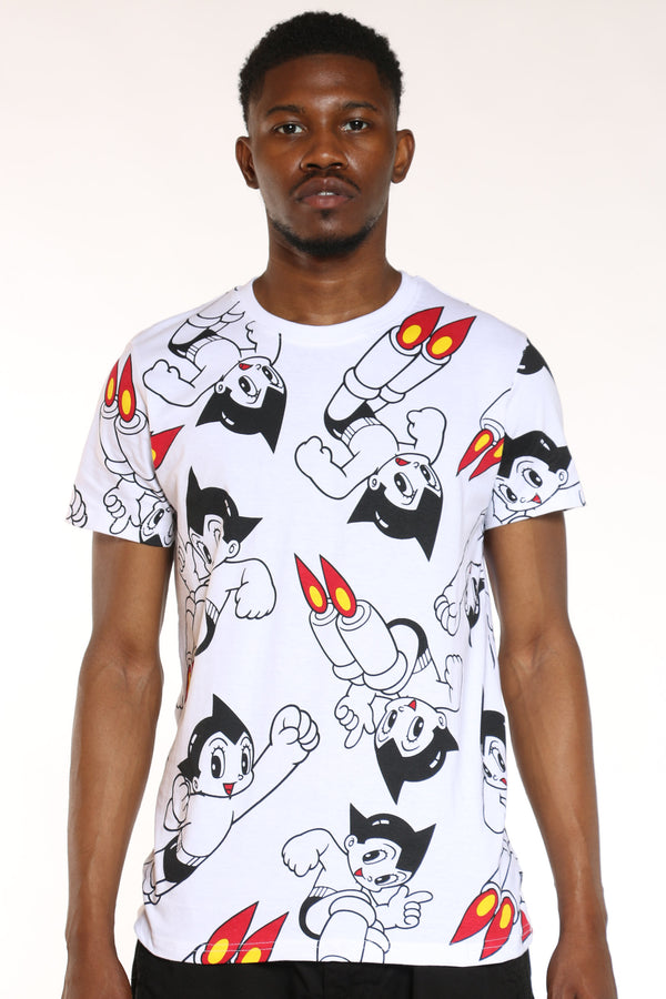 Men's Astro Boy Tee - White-VIM.COM
