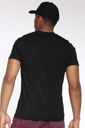 Men's No Cap Paint Drip Tee - Black