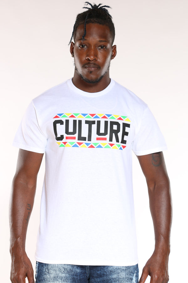 Men's Culture Tee - White-VIM.COM