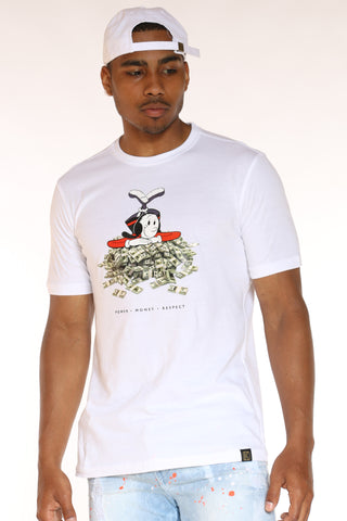 Men's Olive Oyl Money Tee - White-VIM.COM