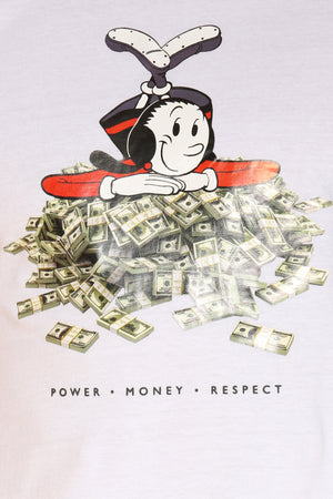 Men's Olive Oyl Money Tee - White