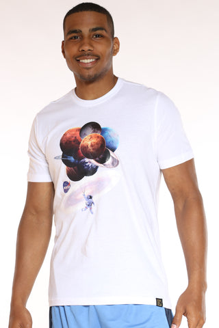 Men's Nasa Planets Tee - White-VIM.COM