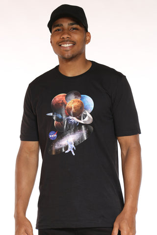 Men's Nasa Planets Tee - Black-VIM.COM