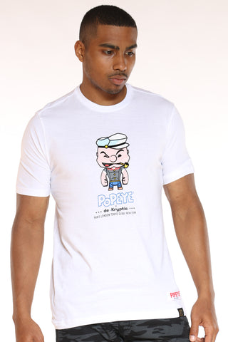 Men's Popeye Tee - White-VIM.COM