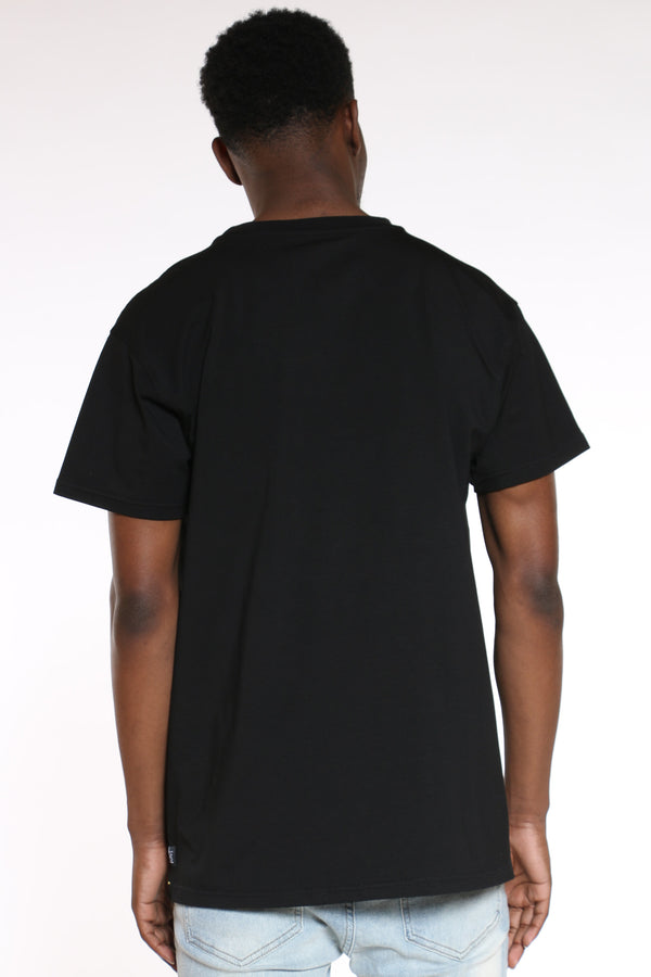 Men's Abstract Art Tee - Black