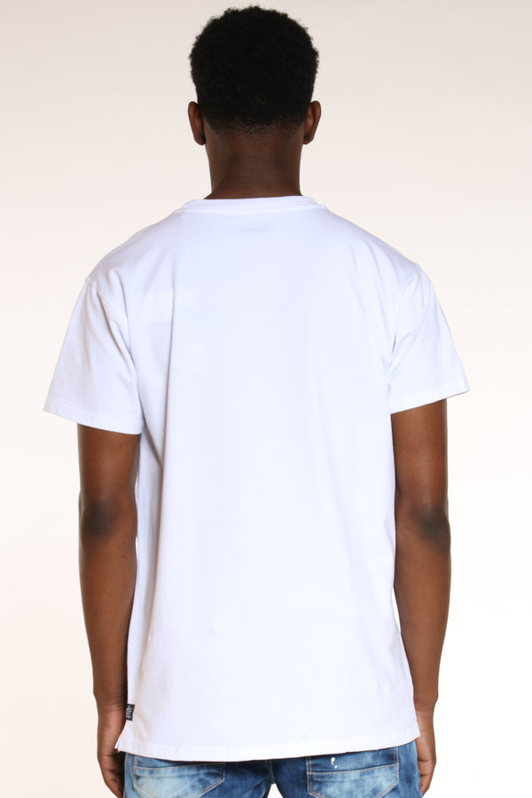 Men's Abstract Art Tee - White