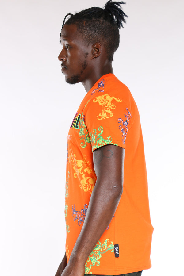 Men's Make It Count Colorful Tee - Orange