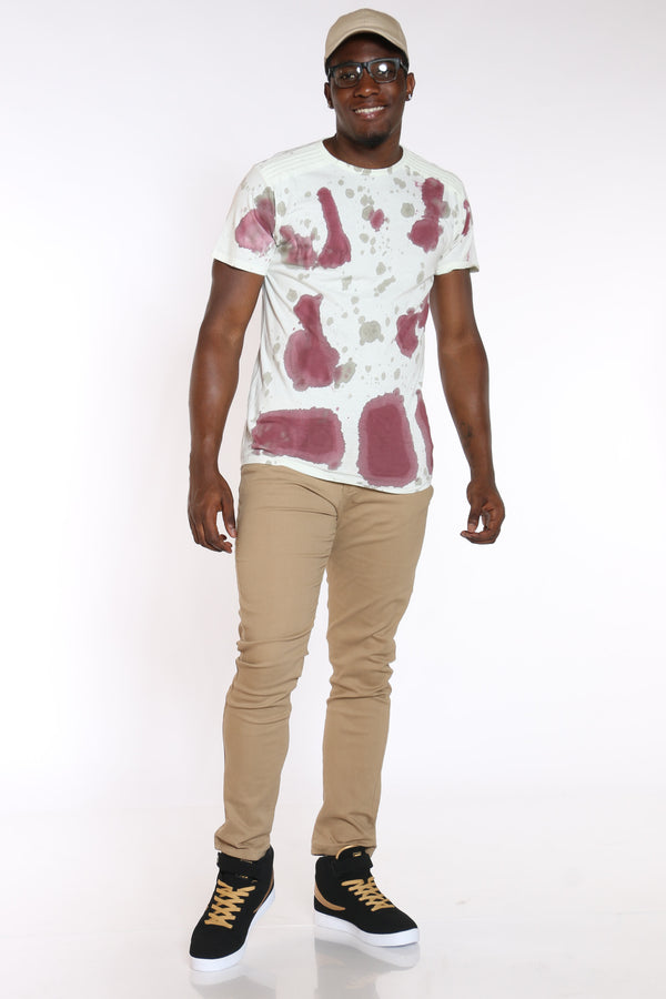Men's Water Color Tee - Burgundy