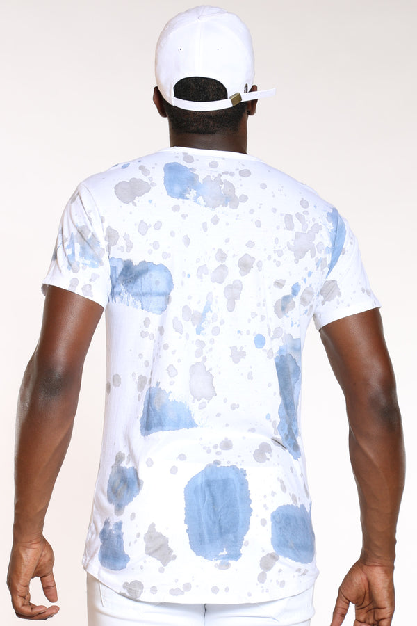 Men's Water Color Tee - Bright Blue