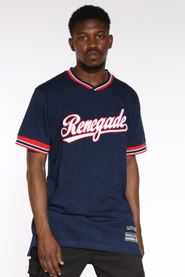 Men's Renegade Script Tee - Blue-VIM.COM