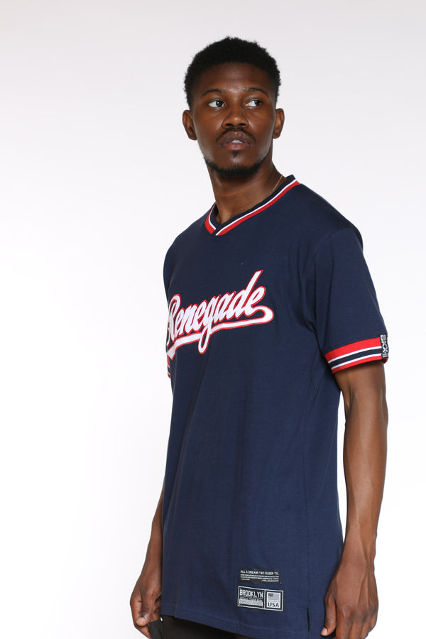 Men's Renegade Script Tee - Blue