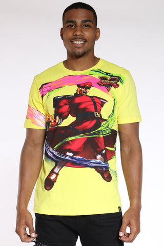 Men's Street Fighter Tee - Yellow-VIM.COM