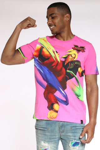 Men's Street Fighter Tee - Pink-VIM.COM