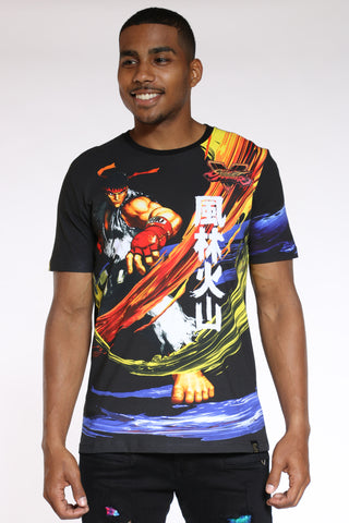 Men's Street Fighter Tee - Black-VIM.COM