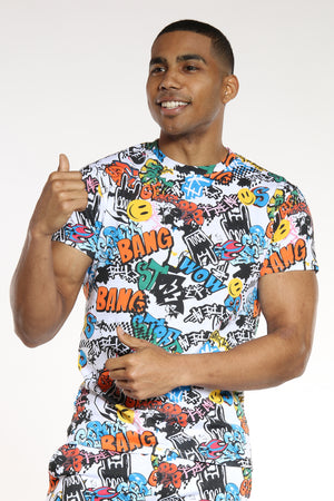Men's Graffiti Tee - Multi-VIM.COM