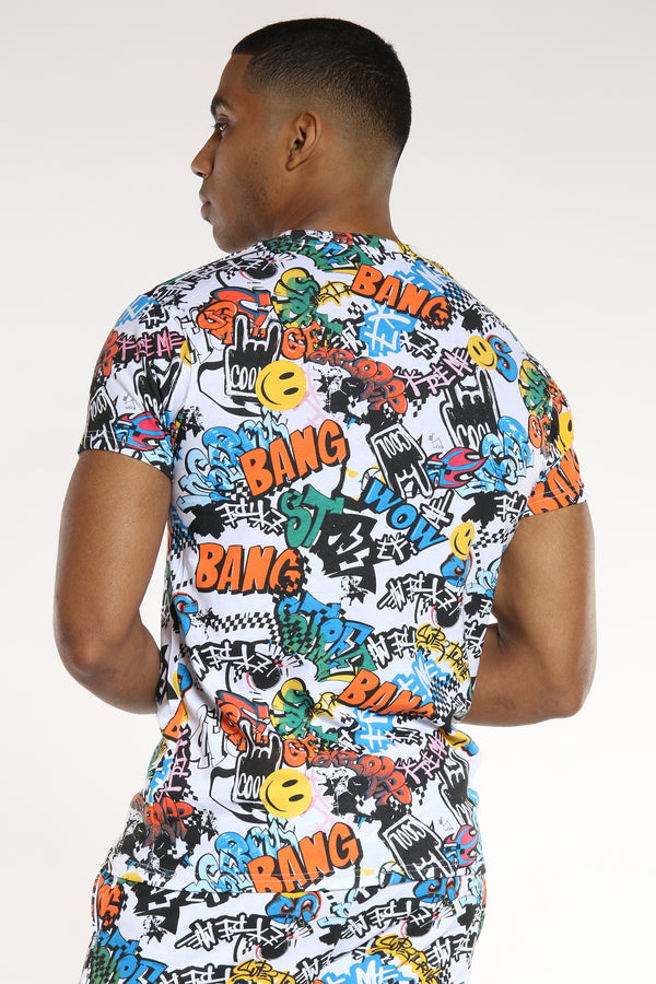 Men's Graffiti Tee - Multi