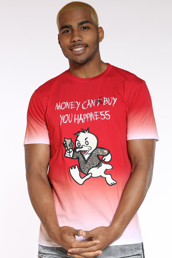 Men's Money Can Buy Happiness Tee - Red-VIM.COM