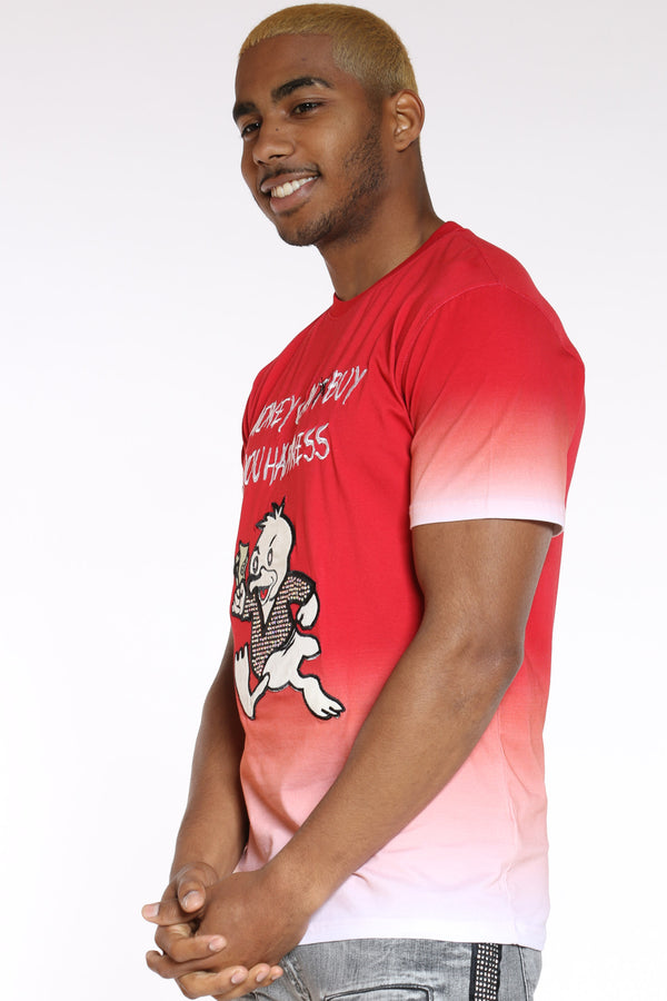 Men's Money Can Buy Happiness Tee - Red