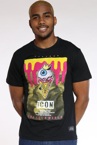 Men's Eye Drip Icon Tee - Black-VIM.COM