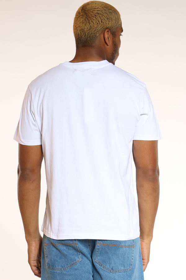 Men's Character Icon Barcode Tee - White