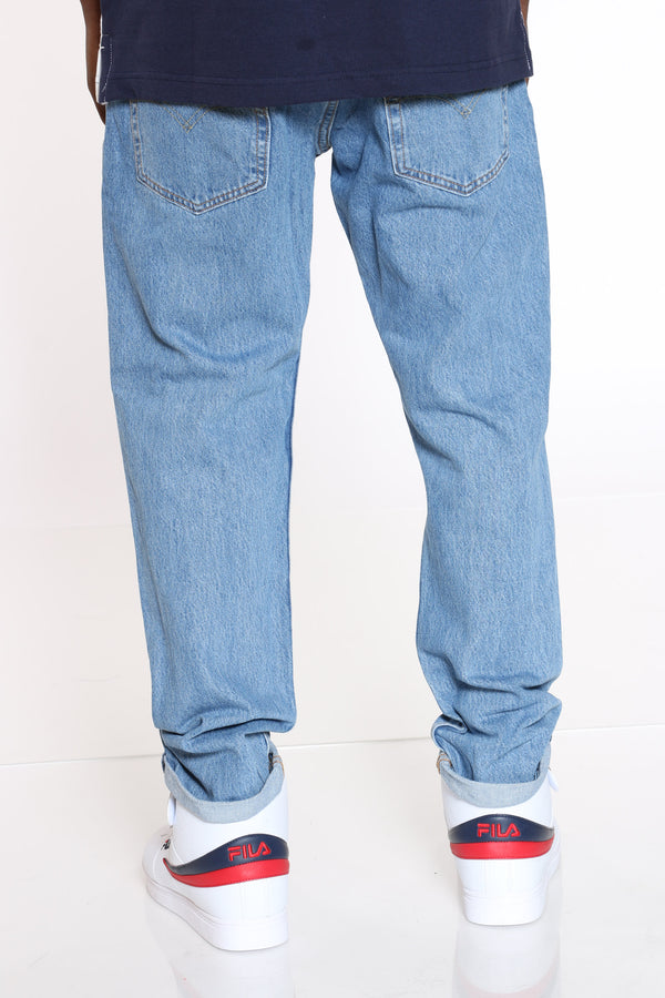 Men's 502 Hi Ball Roll Taper Jean - Blue