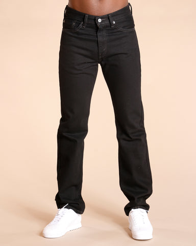 LEVI'S 505 Straight Fit Jeans - Black - Vim.com