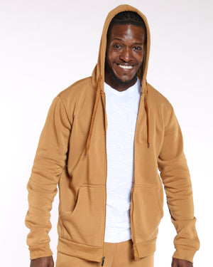 VIM Fleece Full Zip Hoodie - Timber - Vim.com