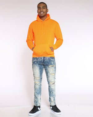 Men's Cj Pull Over Hoodie - Orange