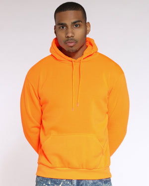 Men's Cj Pull Over Hoodie - Orange-VIM.COM