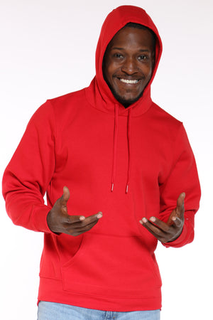 Men's Russell Pullover Fleece Hoodie - Red-VIM.COM