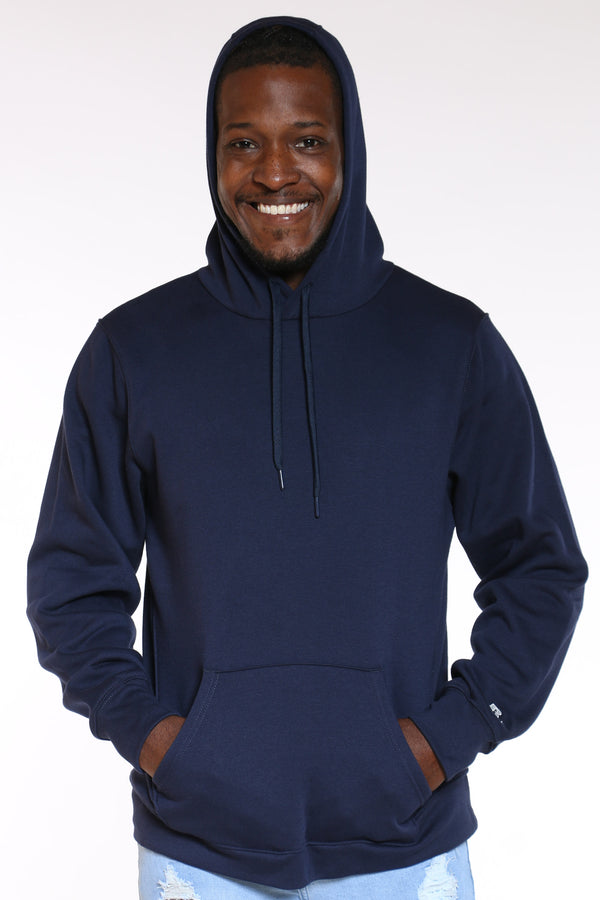Men's Russell Pullover Fleece Hoodie - Navy-VIM.COM