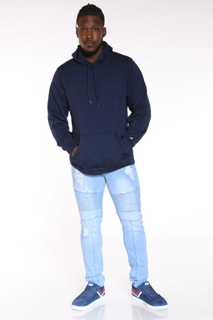 Men's Russell Pullover Fleece Hoodie - Navy