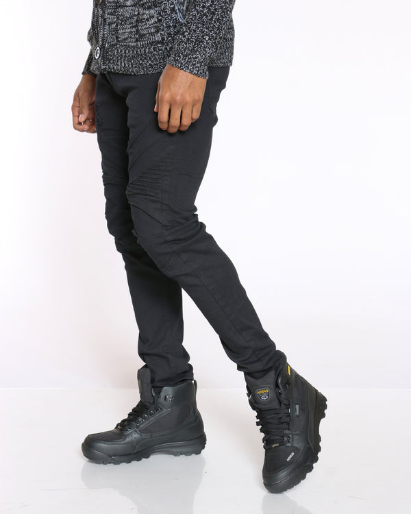 Men's Knee Moto Jean - Black