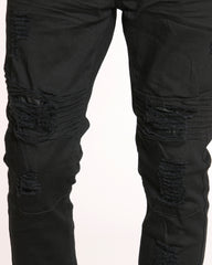 Men's Jon Moto & Ripped Pant - Black