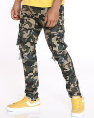 Conner Cargo Pocket & Knee Ripped Jean - Camo
