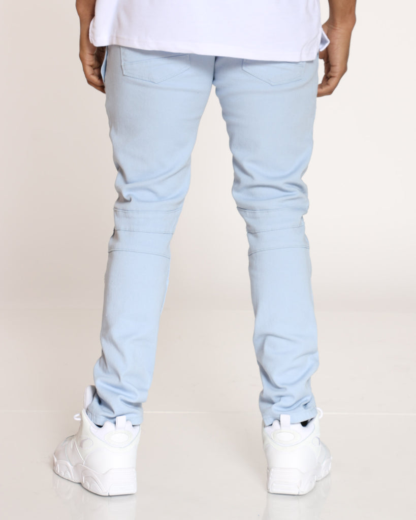 Vernon Twill Ripped & Repair Jean - Baby Blue