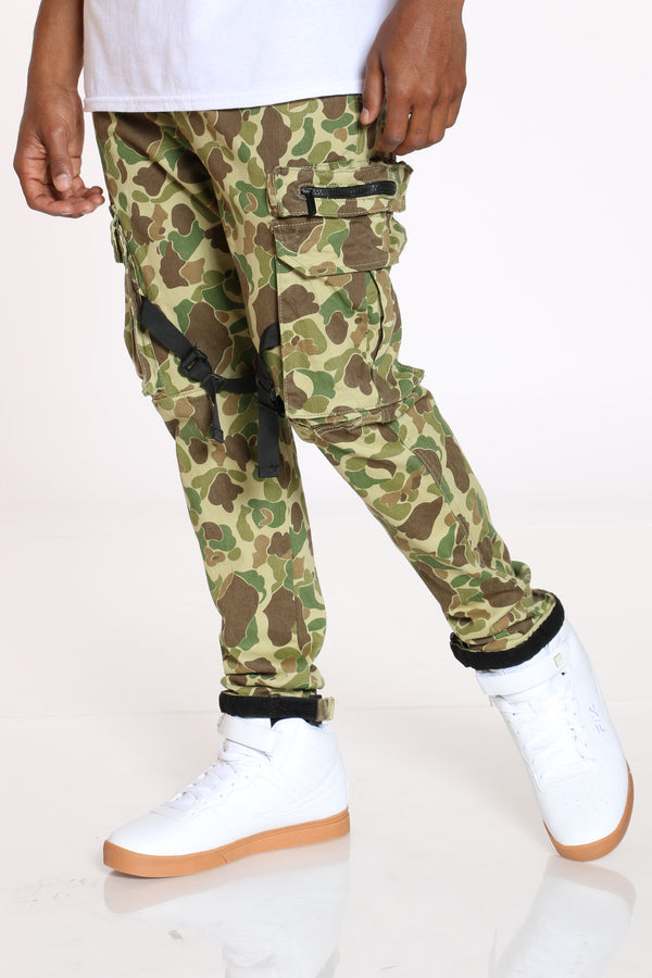 Men's Cargo Pocket Jog Top Jean - Camo