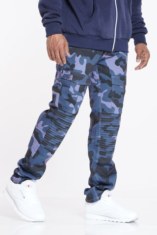 See You Later Camo Pant - Blue Black
