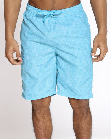 Men's Pool Vibes Printed Swim Short - Sky Blue