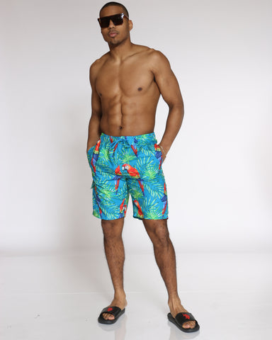 Men's Summer Vibes Swim Short - Blue Parrot