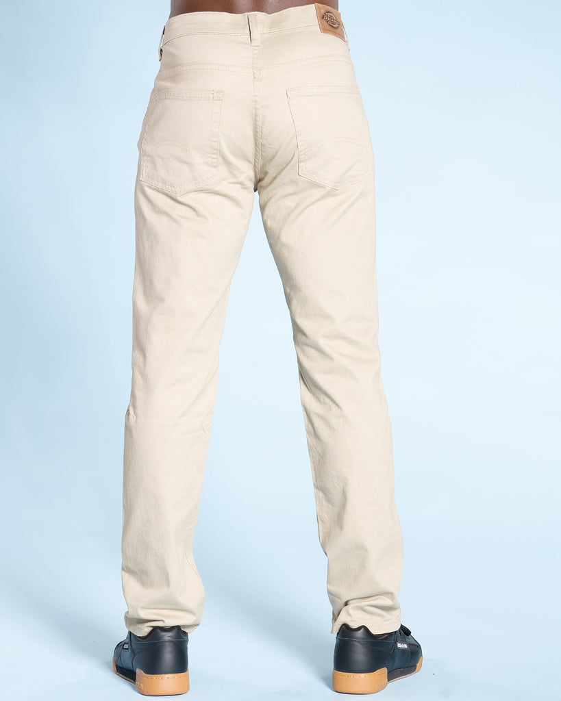 Men's STRAIGHT FIT FIVE POCKET PANTS - BROWN