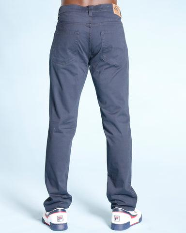 Men'S Straight Fit Five Pocket Pants - Navy