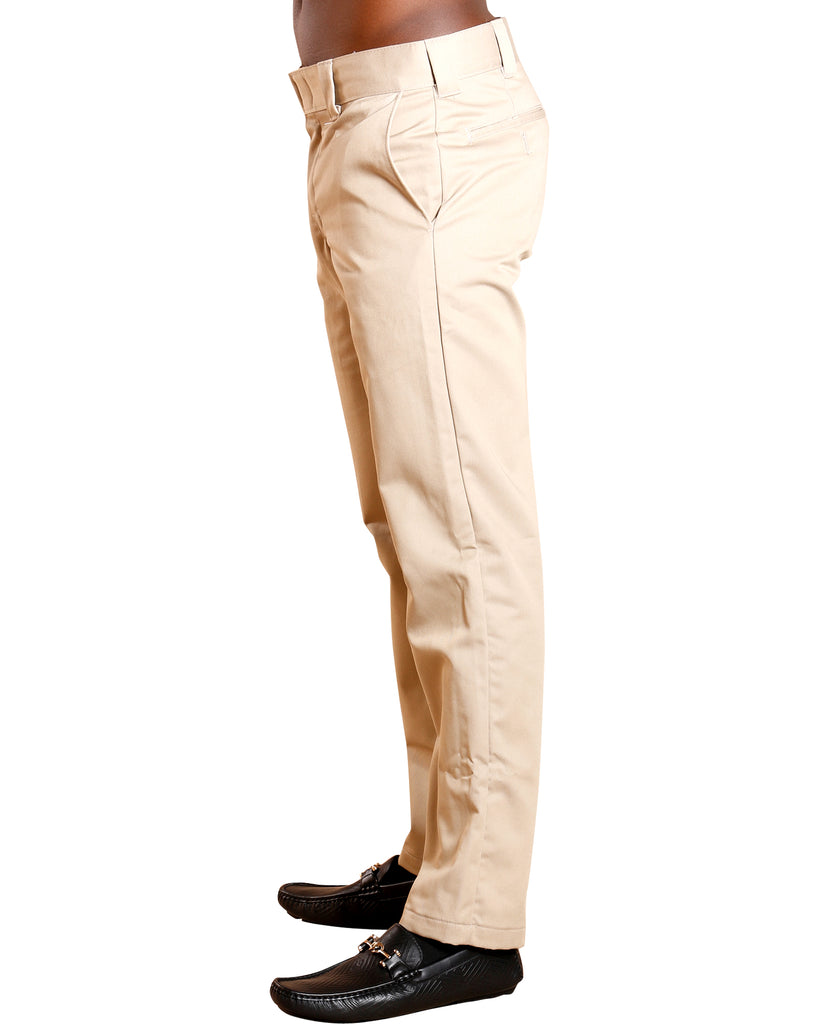 Slim Fit Taper Work Pants - Khaki