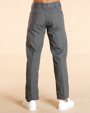 Slim Straight Work Pant - Charcoal