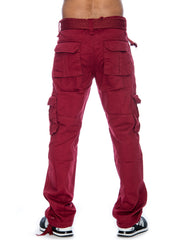 Men's Belted Twill Cargo Pants