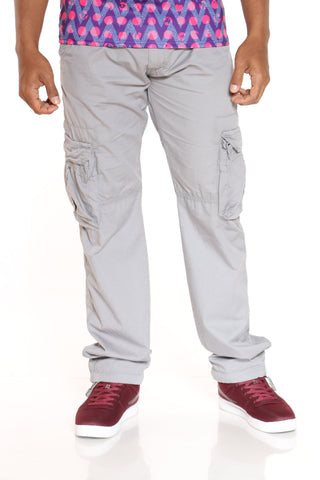 Men's Belted Cargo Pant - Heather Grey